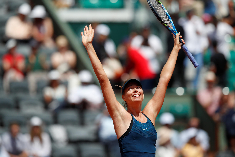 Maria Sharapova won five Grand Slam singles titles.