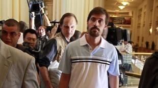 Nhà báo James Foley tại Tripoli, ngày 18/05/2011.