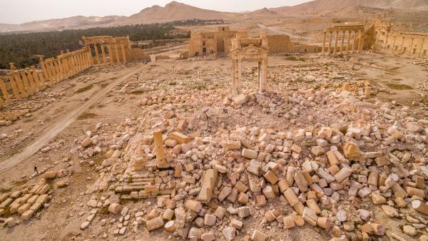 Vista aérea 3D de Palmira.