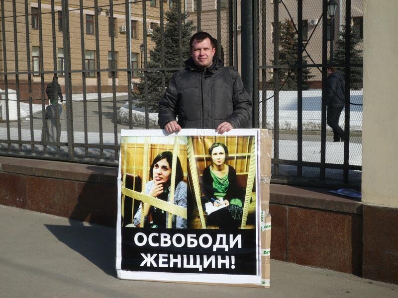 Один из пикетчиков на Петровке 08/03/2012