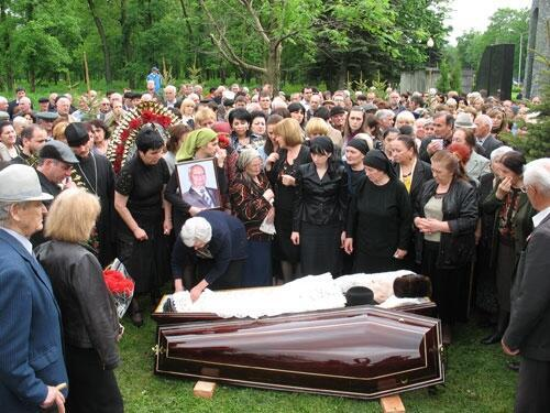 Похороны Шамиля Джигкаева в родном селе