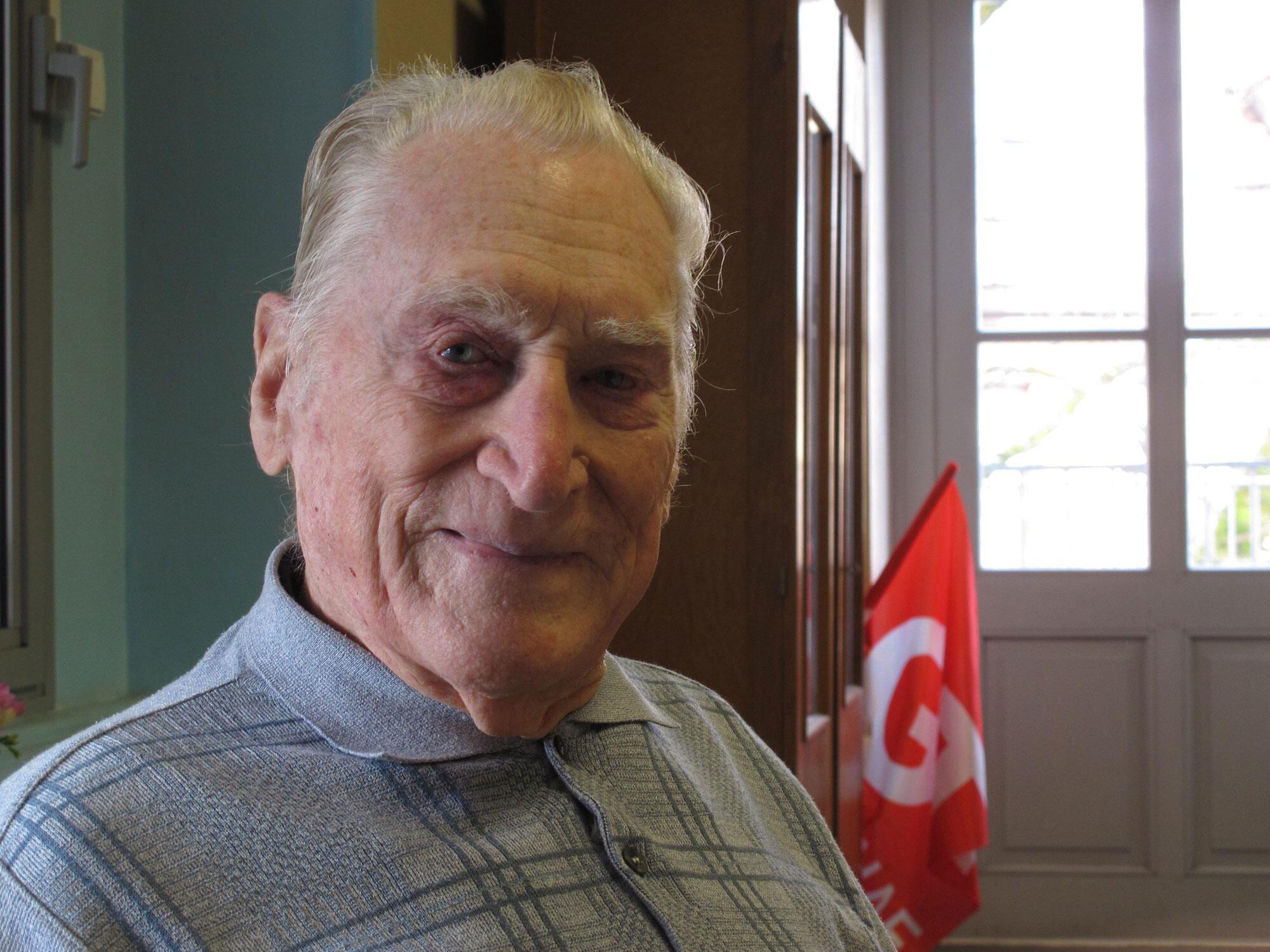 Jolfred Frégonara, ancien responsable CGT de Haute-Savoie, pionnier de la Sécurité sociale.