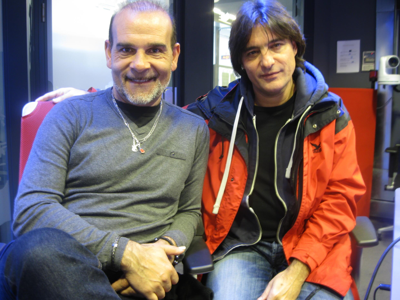Juan Carmona y Domingo Patricio en los estudios de RFI