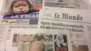 Primeiras páginas dos jornais franceses de 11 de fevereiro de 2019