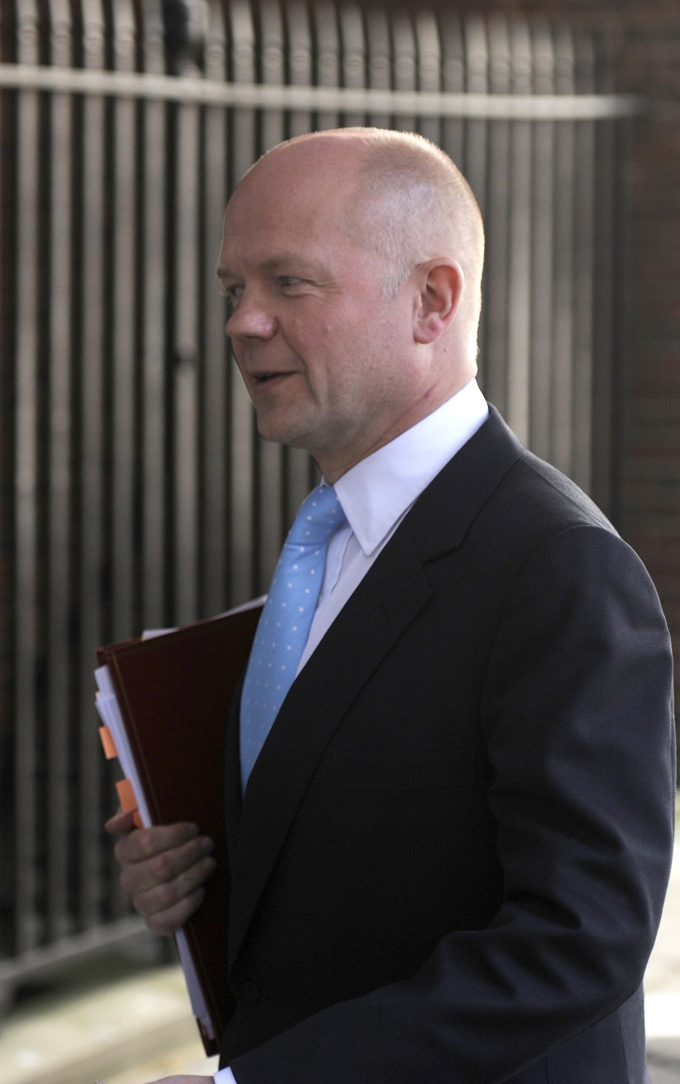 O ministro britânico das Relações Exteriores, William Hague.