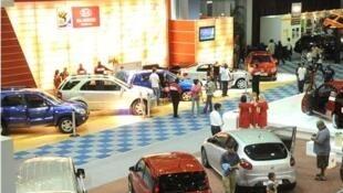 Une vue du salon du tourisme de Durban, en Afrique du Sud.
