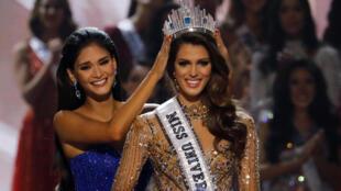 Ирис Миттенар, победительница конкурса Мисс Франция 2016 и международного конкурса красоты Мисс Вселенная 2016, член жюри конкурса Мисс Франция 2018