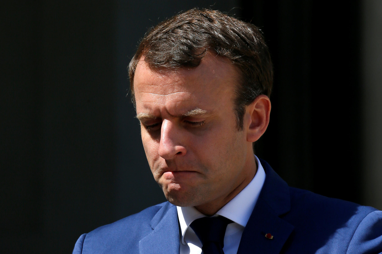 O presidente francês Emmanuel Macron, que propõe reformas que desagradam parte da sociedade francesa