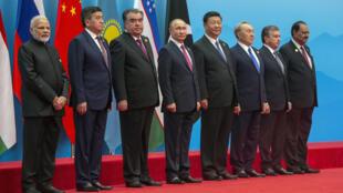 上海合作峰會閉幕2018年6月10日青島