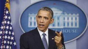 Barack Obama répond aux questions de la presse à Washington, le 19 décembre.