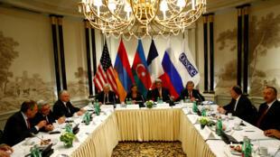 Встреча, посвященная урегулированию конфликта в Нагорном Карабахе, с участием президентов Армении и Азербайджана, а также глав МИД стран-сопредседателей Минской группы ОБСЕ, Вена, 16 мая 2016.