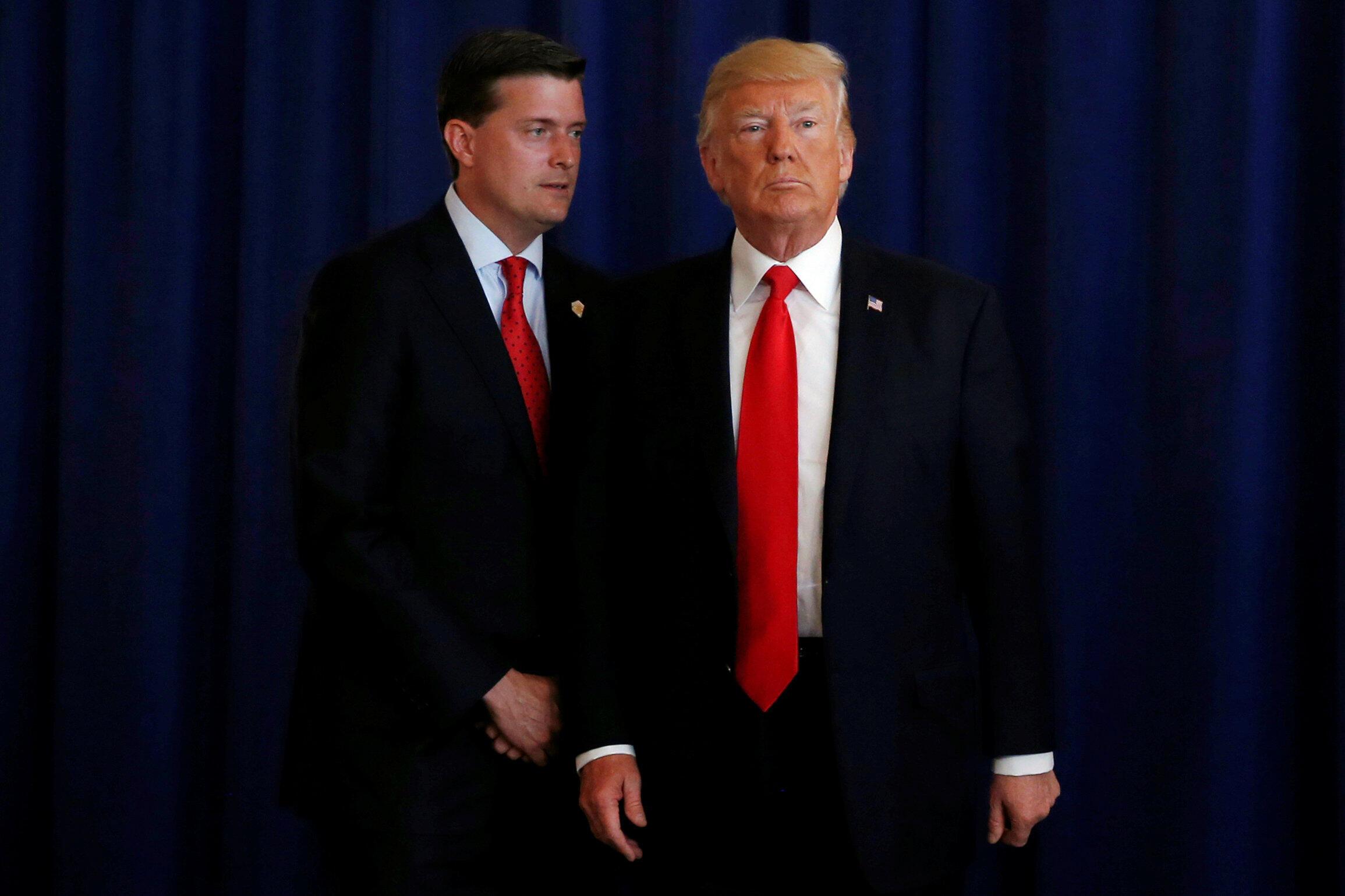 Ông Rob Porter và tổng thống Donald Trump, tháng 8/2017.