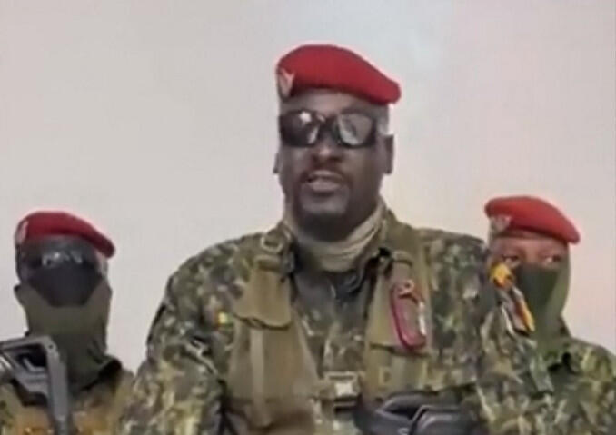 Lieutenant-Colonel Mamady Doumbouya said the coup was necessary because of government 'mismanagement'