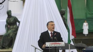 Thủ tướng Hungary phát biểu nhân ngày quốc khánh 15/03/2016, tại Budapest.