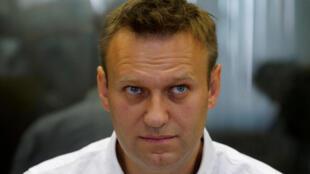 Alexeï Navalny, condamné à cinq ans de prison avec sursis pour détournement de fonds.