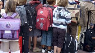 Des élèves d'un collège, le 1er septembre 2020, jour de la rentrée scolaire.