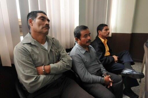 The three ex-officers who stood trial