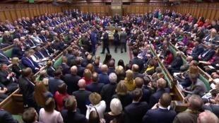 La Chambre des Communes après l'annonce du résultat du vote sur l'accord différé, le 19 octobre 2019.