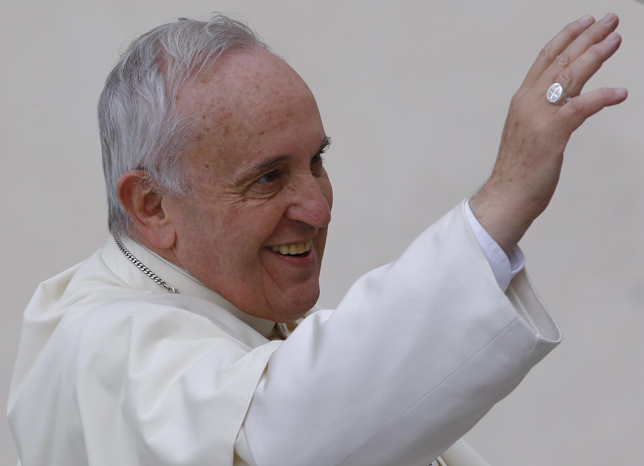 Le pape François sur la place Saint-Pierre, le 5 novembre.