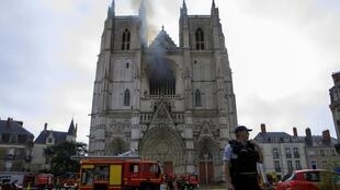 The fire that broke out on Saturday July 18 in Nantes cathedral destroyed stained glass windows and works of art, including the great organ.