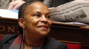 French Justice Minister Christiane Taubira at the National Assembly