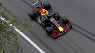 Một cuộc đua xe F1 - Giải Azerbaijan Grand Prix - đoạn qua thành phố Baku, Azerbaijan, ngày 27/04/2018.