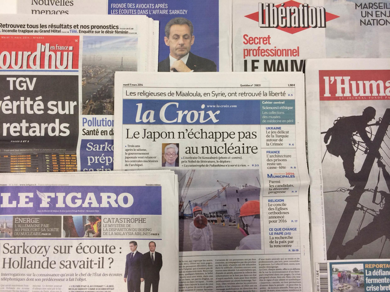 Primeiras páginas dos diários franceses de 11/03/2014