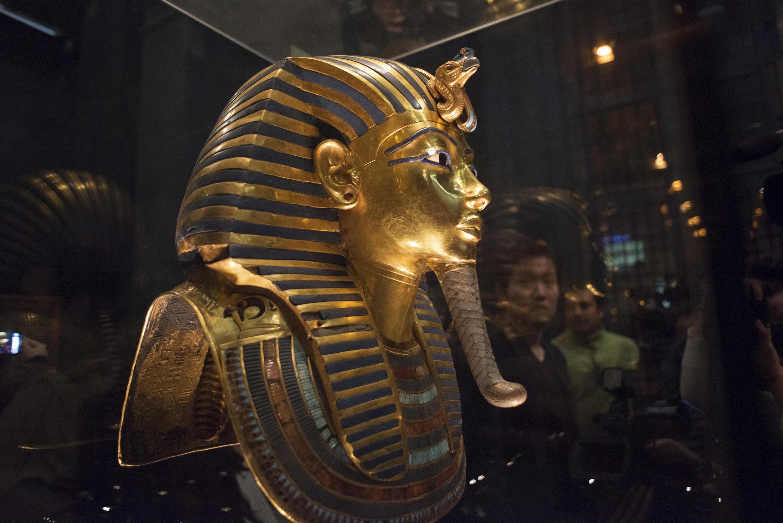 Le masque de Toutankhamon au musée égyptien du Caire, le 24 janvier 2015.