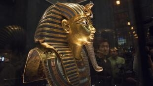 l'exposition Toutankhamon, le Trésor du Pharaon, ouvrira ses portes à la Grande Halle de la Villette,  samedi 23 mars 2019 à Paris. [圖坦卡蒙-法老的寶藏]埃及文物展周六(2019年3月23日)在巴黎La Villette大展廳開幕。