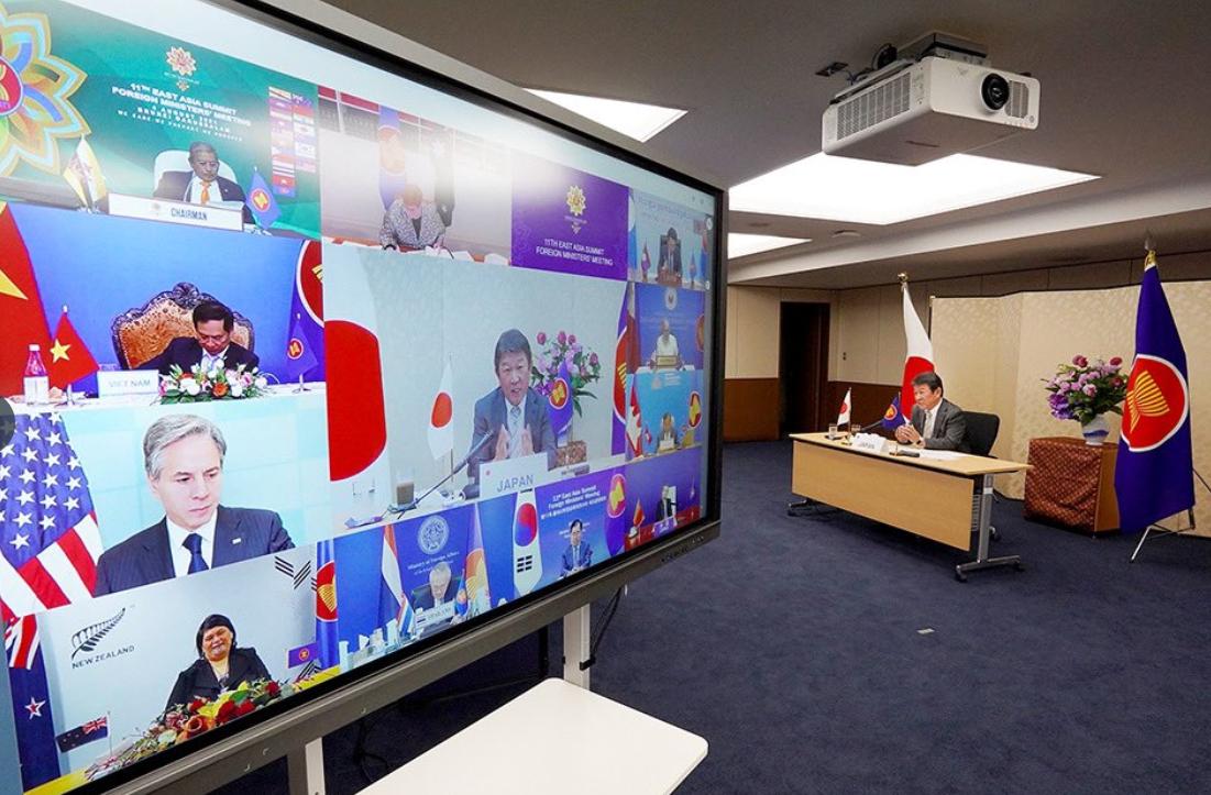 日本外務大臣茂木敏充參加東盟系列會議資料圖片