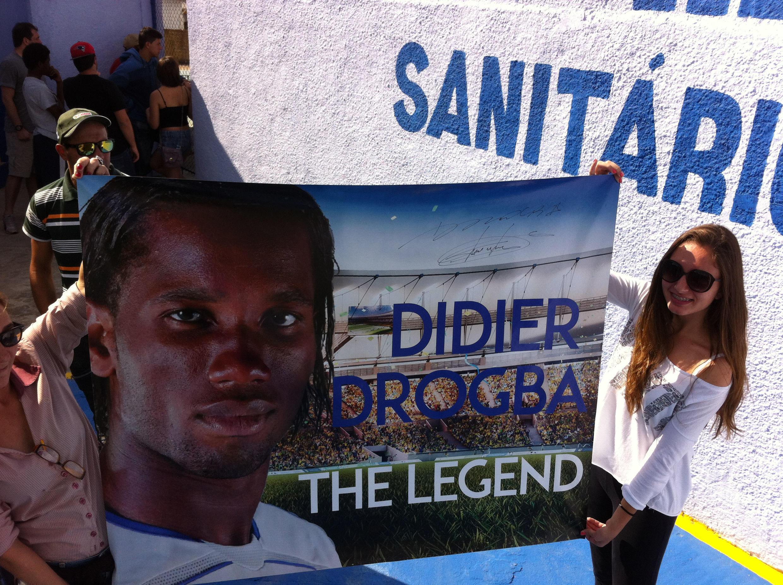 Les fans de Didier Drogba sont nombreux au Brésil.