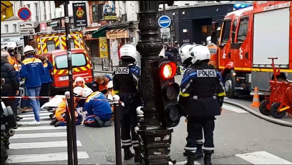 Полиция оцепила район взрыва