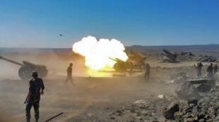 Les jihadistes ont été encerclés et soumis à un déluge de feu et aux assauts des troupes spéciales (illustration).