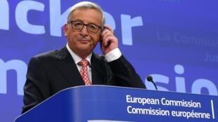 El nuevo presidente de la Comisión Europea, Jean-Claude Juncker, en el momento de anunciar los nombres de los miembros de su equipo de trabajo, el 10 de septiembre de 2014.