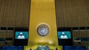 Mali's President Ibrahim Boubacar Keita addresses the 74th session of the United Nations General Assembly at UN headquarters in New York City, New York, U.S., September 25, 2019.
