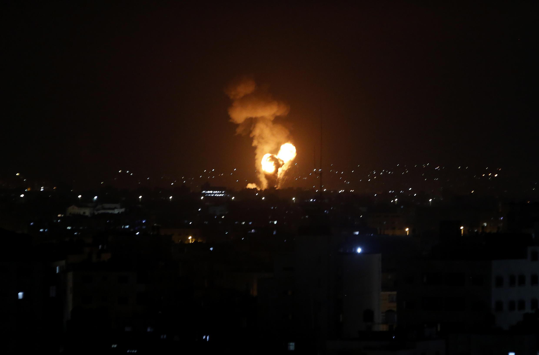 Wani yankin zirin Gaza da jiragen yakin Isra'ila suka yiwa ruwan wuta.
