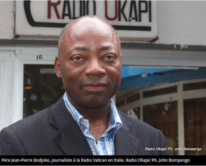 Père Jean-Pierre Bodjoko, journaliste à la Radio Vatican en Italie (Capture d'écran).