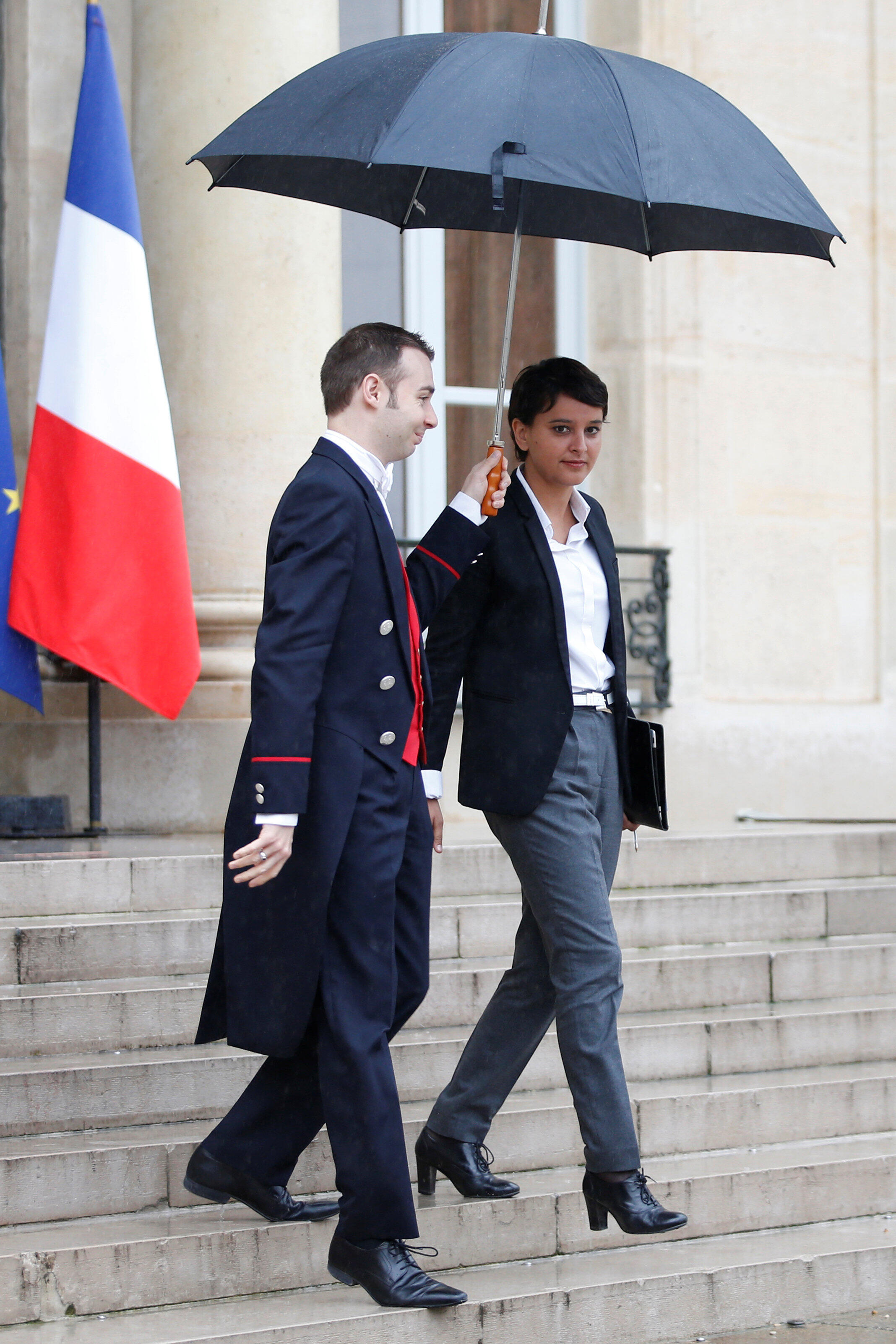 French Education minister Najat Vallaud-Belkacem leaves the Elysée Palace in Paris, France, May 30, 2016.