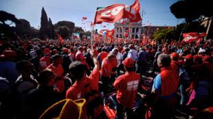 Première grande manifestation anti-Renzi. Rome, le 25 octobre 2014.
