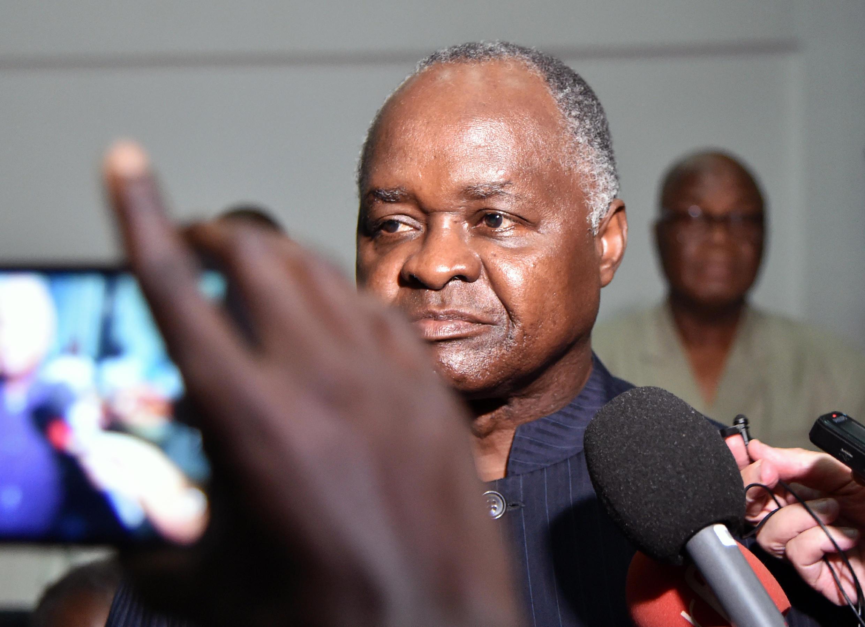L'ancien ministre Hubert Oulaye le 26 décembre 2017, à la Cour d'assise d'Abidjan.