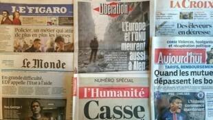Os diários franceses desta terça-feira 16 de Fevereiro.
