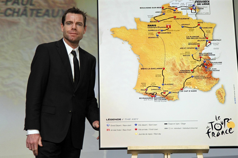 Кэйдел Эванс представляет маршрут велогонки Tour de France-2012, 18 октября 2012, Париж