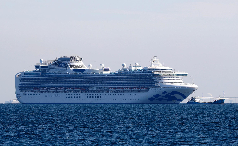 存档图片:钻石公主号在日本横滨沿岸 摄于 2020年2月3日星期一 / Image d'archive: Le «Diamond Princess» est bloqué depuis lundi 3 février au large de Yokohama.