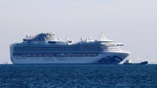 鑽石公主號在日本橫濱沿岸 2020年2月3日
