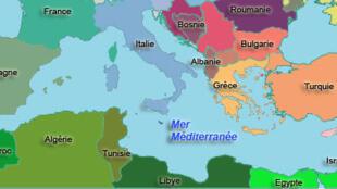 La Mer Méditerranée.