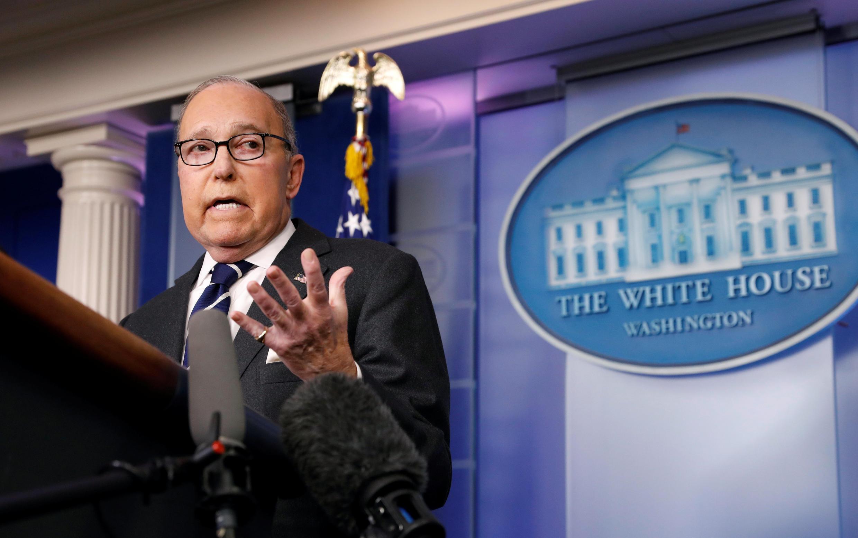 Cố vấn kinh tế của Nhà Trắng Larry Kudlow phát biểu với giới báo chí, Washington, Hoa Kỳ, ngày 22/01/2019