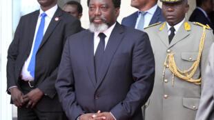 Le président congolais Joseph Kabila, le 14 février 2018 à Kinshasa.