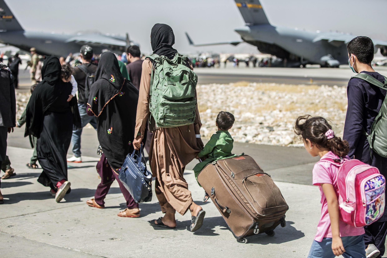 Afghanistan - Kaboul - Aéroport - Évacuation - AP21237791720218