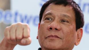 图为菲律宾总统杜特尔特