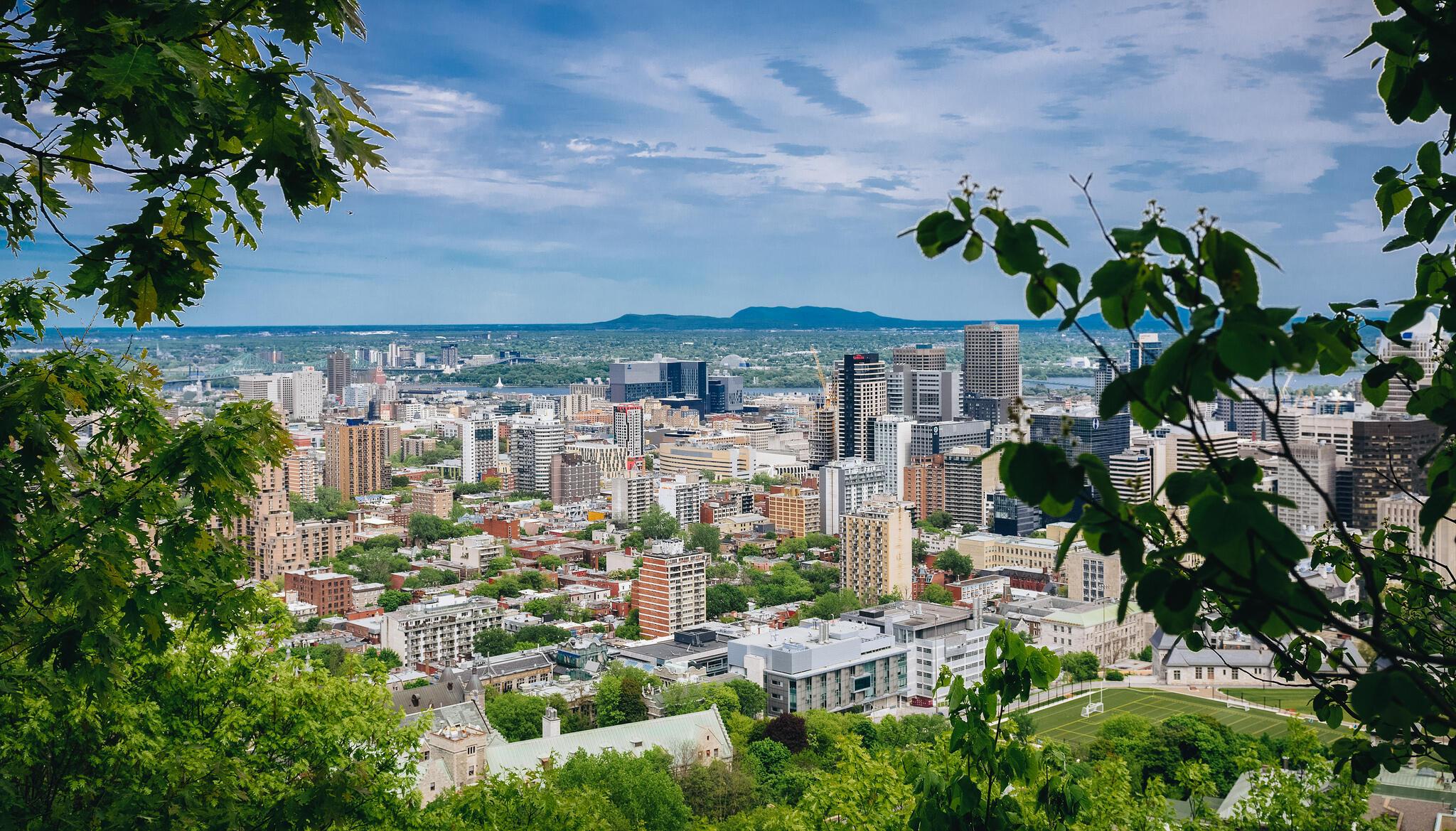 Vue aérienne de Montréal (image d'illustration).